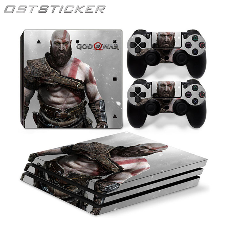 OSTSTICKER Hot Selling Waterproof Vinyl Skin Skin Stickers For Sony PS4 Pro Console and Controllers Cover Decals Wrap