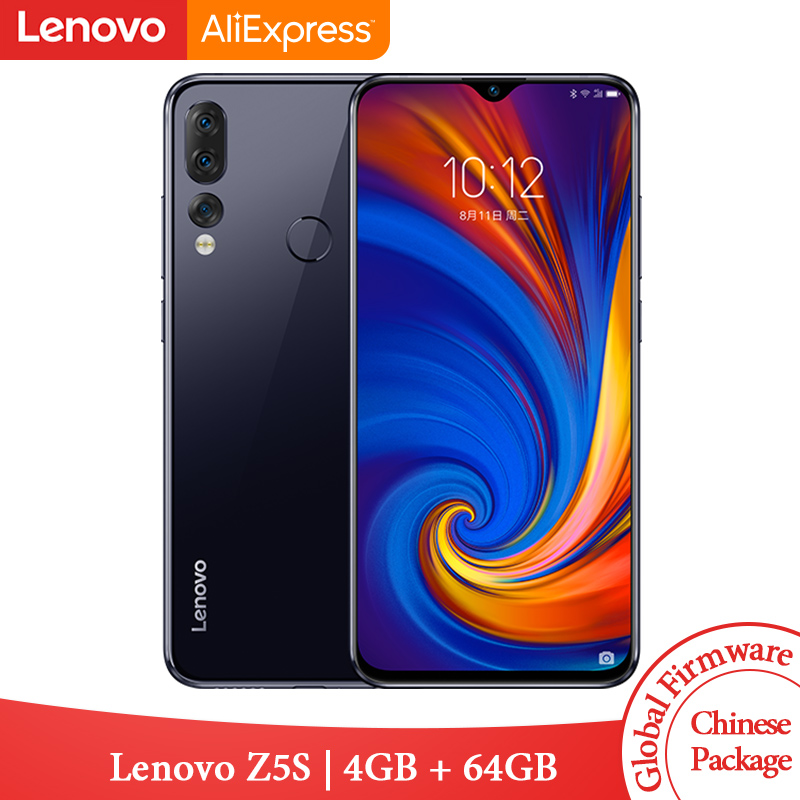Global ROM Lenovo Z5s Snapdragon 710 Octa Core 4GB 64GB Mobile Phone Face ID 6.3inch Android P Triple Rear Camera Smartphone