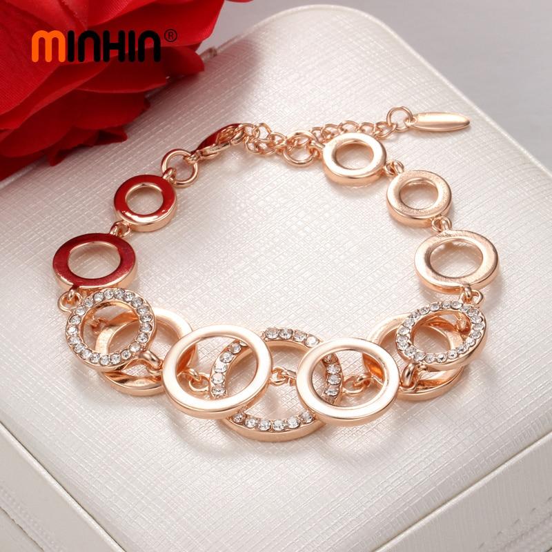 Bracelet gold design circle chain
