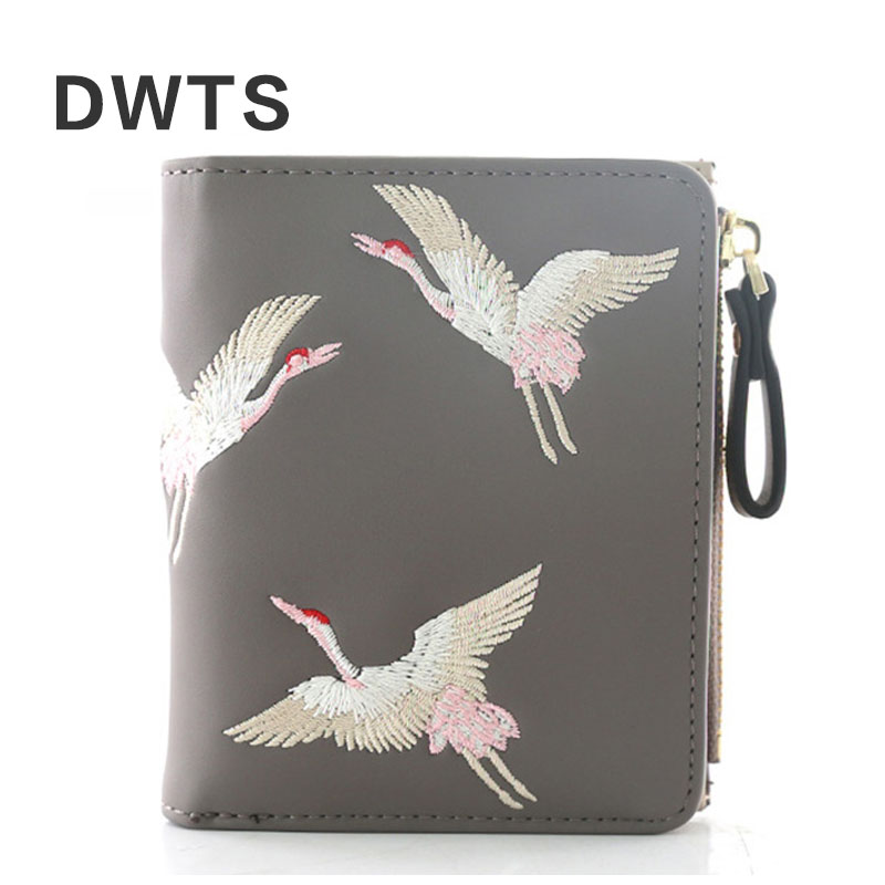 2018 New Fashion Female Wallet Mini Women Wallet Embroidered Short Student Trend Personality Wallet Portefeuille Femme