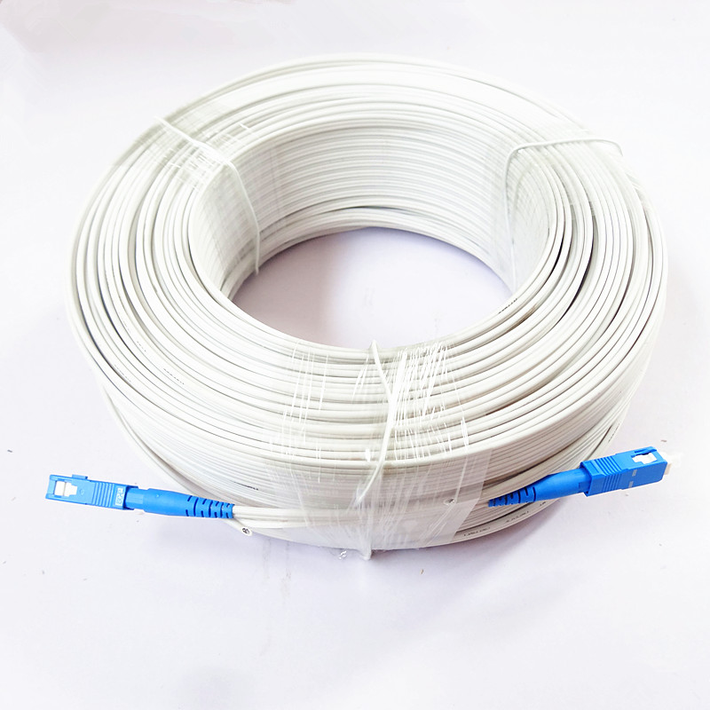 500M Outdoor White SC G657A Fiber FTTH Drop Patch Cable SC SM MM Fiber Optic Patch Cord 1core 3 Wire Butterfly Type Optic Cord