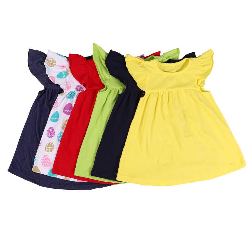 476edb89d79e MUDBALA Boutique Kids Pearl Dress Baby Girl Cotton Pearl Dress Toddler Girls  Smocked Flutter Sleeve Blank