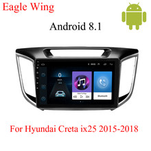 Android 8.1 car dvd gps player For Hyundai Creta ix25 with car radio and navigation playback multimedia video stereo IPS HD(China)