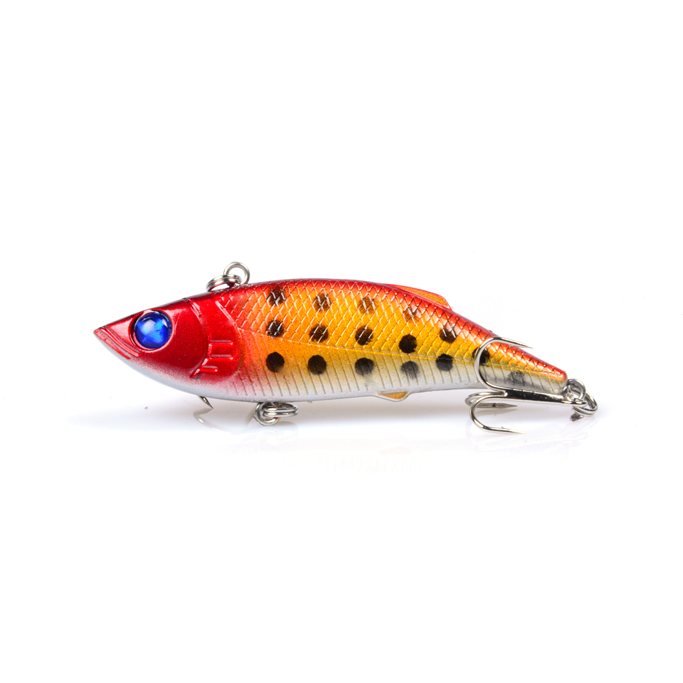 2018 New LINGYUE 6PCS Fishing Lure Lipless VIB Crankbait Hard Bait Sinking Wide Profile Tight Wiggle LK-Y039