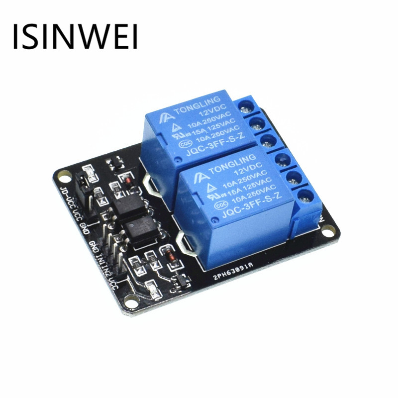 цена на 12V 2-Channel Relay Module Shield For Arduino ARM PIC AVR DSP Electronic With Optocoupler