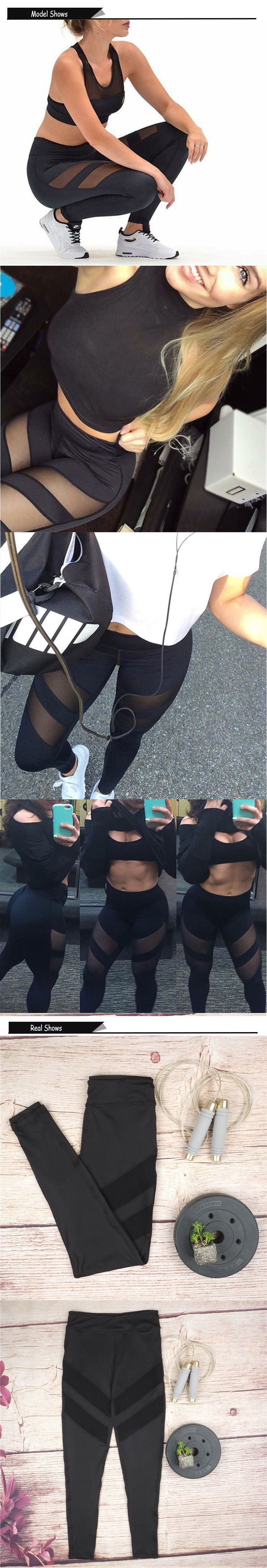 Ladies Mesh High Waist Workout Leggings Fitness Women Pants Breathable Push Up Leggings Women Quick Dry High Quality Leggins 8