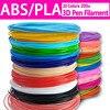 3d pen printer ABS   PLA filament diameter 1 75mm plastic filament abs   pla plastic 20 colors Safety No pollution review