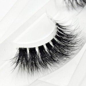 Image 3 - Visofree Mink Lashes 3D Mink Eyelashes Invisible Band Natural Black Mink False Eyelash Full Strip cilios posticos Reusable F2