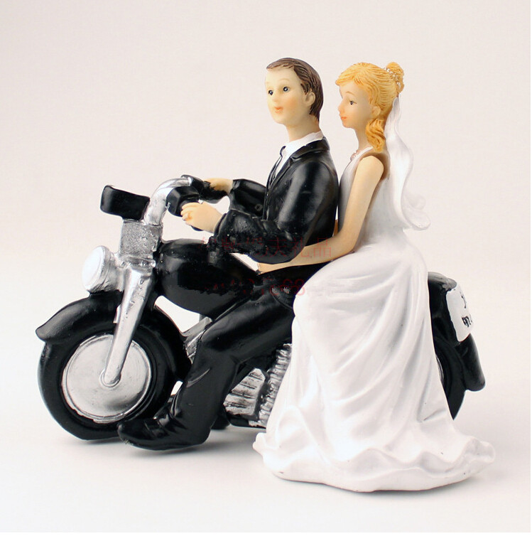 motorcycle couple wedding cake topper aliexpress buy free shipping wedding favor wedding 17606