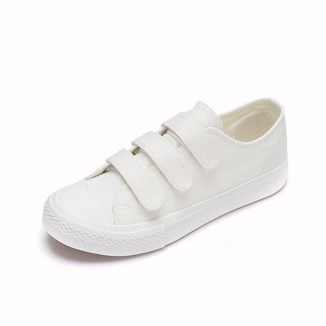 Белый Черный Классический Холст Обувь Новая Мода 2017 женщин Вулканизации Обуви Весна Женщины Повседневная Обувь Досуг Дышащие D051