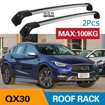 2 Pcs גג ברים עבור infinitit QX30 2017 + 2018 + אלומיניום סגסוגת צד ברים צלב מסילות גג מתלה מטען