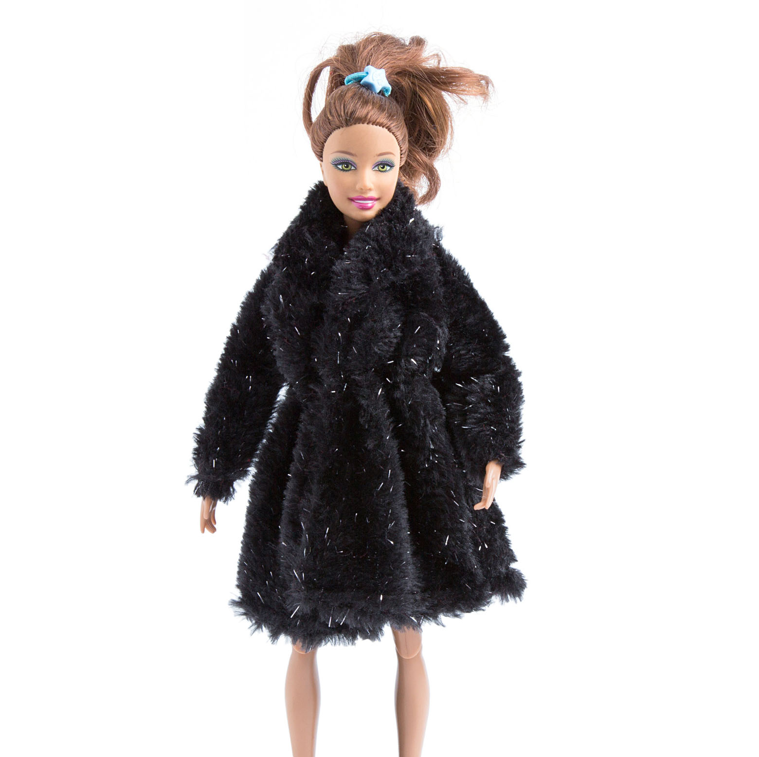Fashion Outfit clothes Gray Fur Winter Coat FOR 11.5 inch Doll
