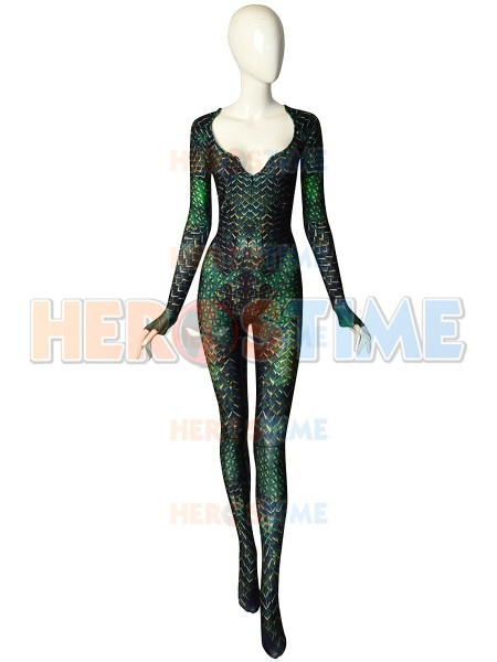3D Printed High Quality Quinn Mera Cosplay Costume Aquaman Justice League Movie Version Zentai Halloween Undersuit