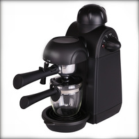 240ml Italian Espresso Coffee Maker 220V 800W 5 Bar Pressure Semi Automatic Personal Coffee Machine with Cappuccino Milk Foamer