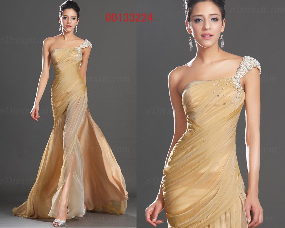 free shipping New 2018 vestido longo Sexy one shoulder crystal beaded Formal party elegant   bridesmaid     Dress