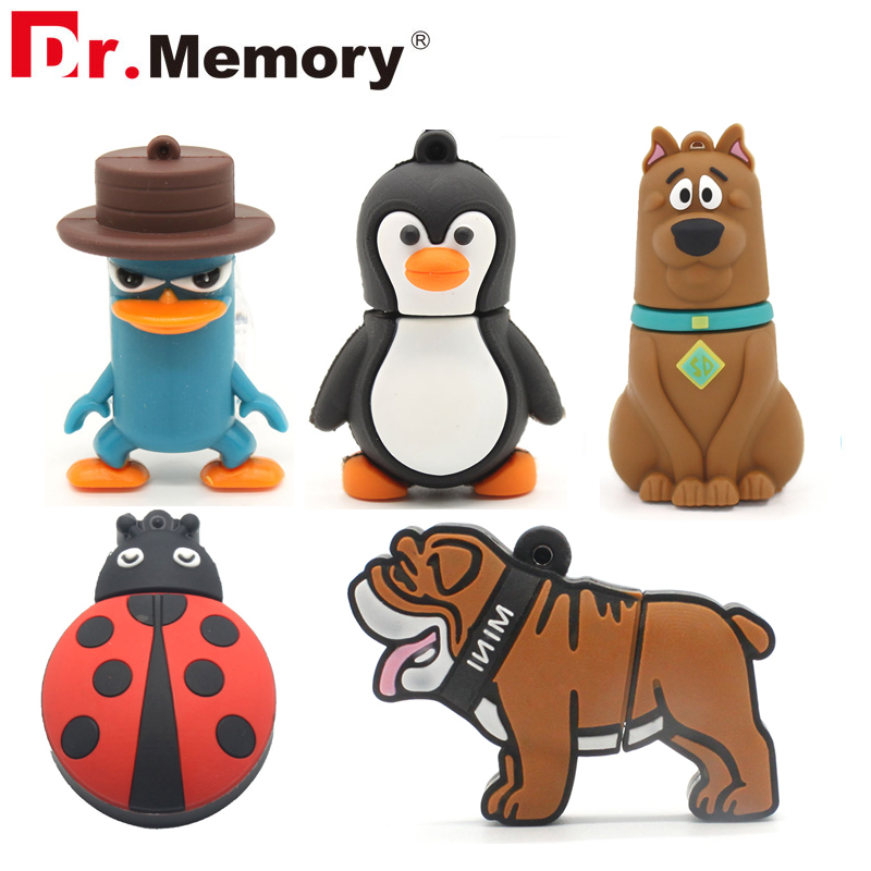 Cute Animal USB Flash Drives 16GB Cartoon Dog Pendrive 32GB Personalized 4GB 8GB Memory Stick Pen Drive I Flashdisk Funny Gifts