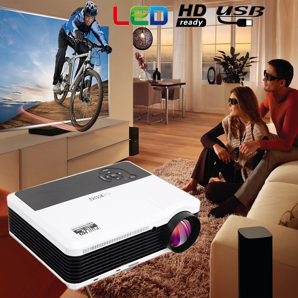 2017 home theater 3600 lumen projector with 1280*800 android wifi home and small business use projector