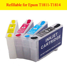 Refillable ink cartridge T1811xl T1812xl T1813xl T1814xl for Epson Expression Home XP-30/XP-102/XP-202/XP-302/XP-305/XP-402