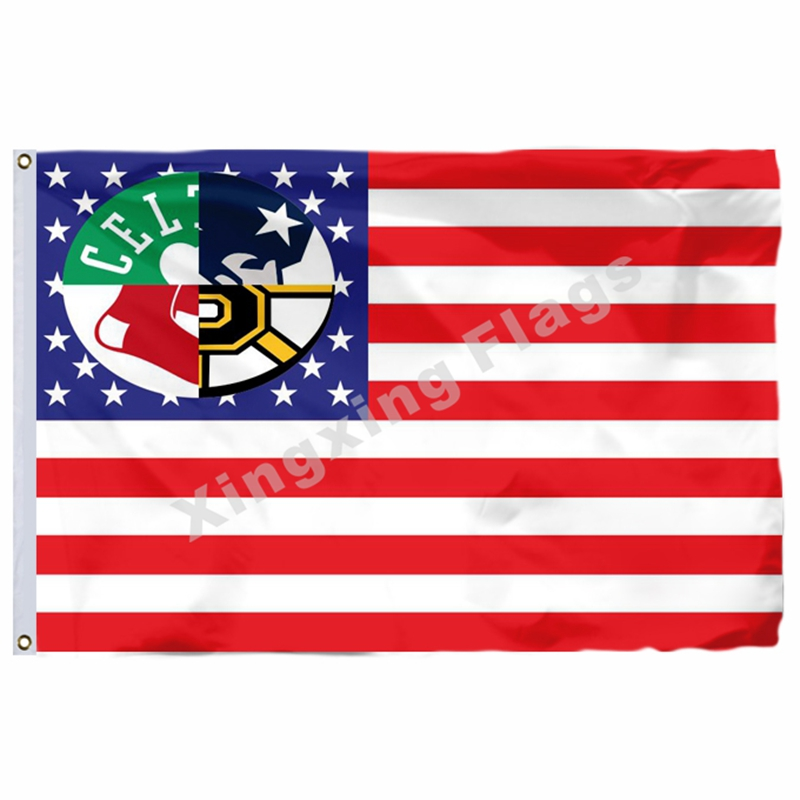 NBA Boston Celtics New England Patriots Boston Red Sox Boston Bruins Flag 3ft x 5ft Polyester Banner Size No.4 144* 96cm