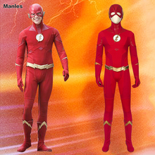 The Flash Season 5 Cosplay Barry Allen Costume The Flash Halloween Suit Adult Jumpsuit Custom Mask Belt Boots Carnival цена