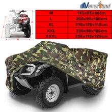 Camouflage Universal 190T Motorcycle Waterproof Cover Quad Bikes ATV For Polaris Honda Yamaha Suzuki Size M