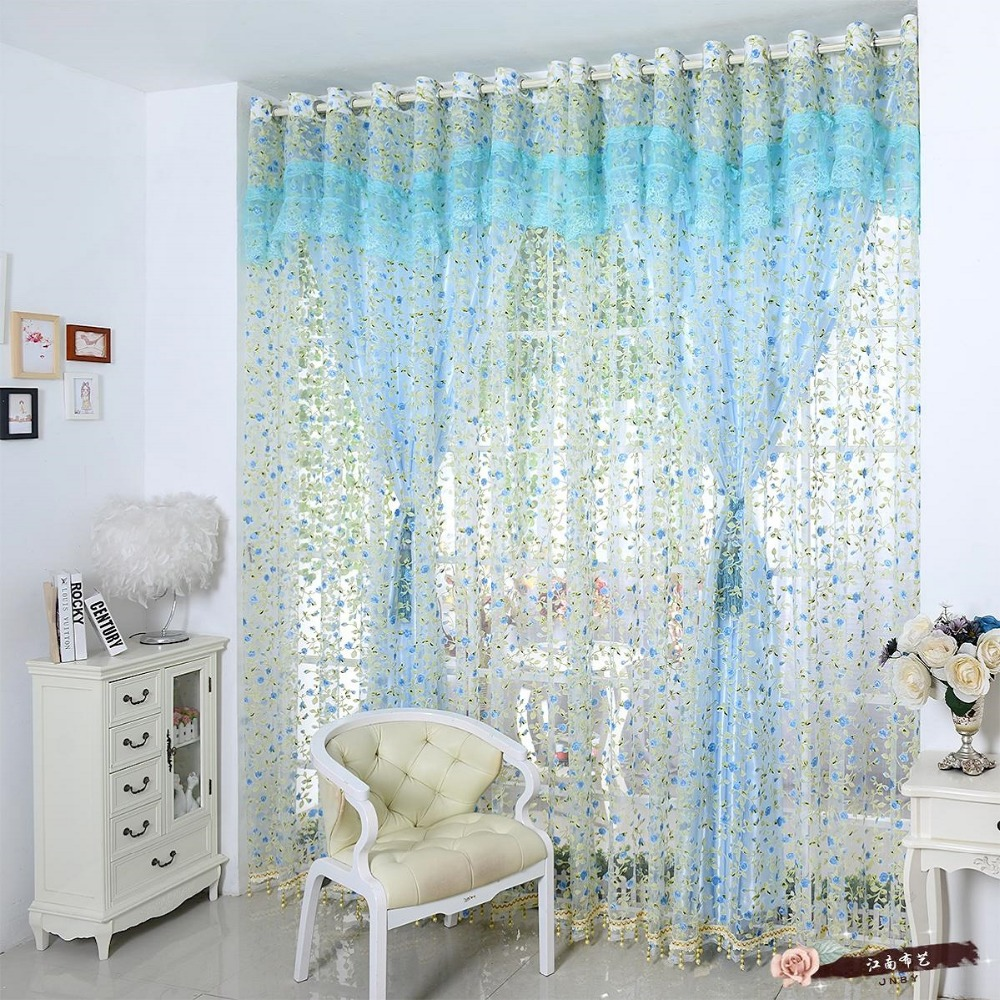Korean window curtains set for living room romantic lace curtains for the bedroom 1 pc curtain - Curtains in bedroom ...