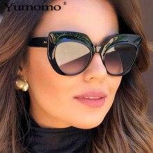 Fashion Cat Eye Sunglasses Women Chic Brand Designer Luxury Oversized Lady Summer Style Sun Glasses Female Shades