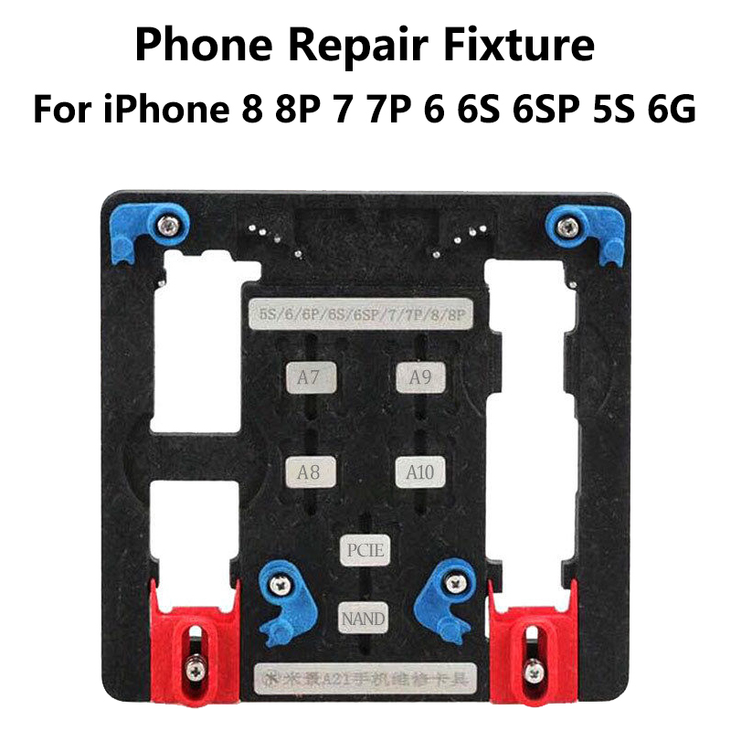 9 in 1 Logic Board Clamps Mobile Phone Repair Board PCB Holder For iPhone 8 8plus 7 6 6s Plus 5S For A7 A8 A9 A10 Chip Fixture newest circuit board pcb holder jig fixture work station for iphone 8 7 6sp 5s logic board a8 a9 a10 chip repair tool