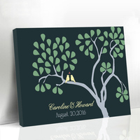 Personalized Wedding Guestbook Fingerprint Tree Signature Canvas Prints Wedding Present for Guest Baby Guest Book Libro Firmas