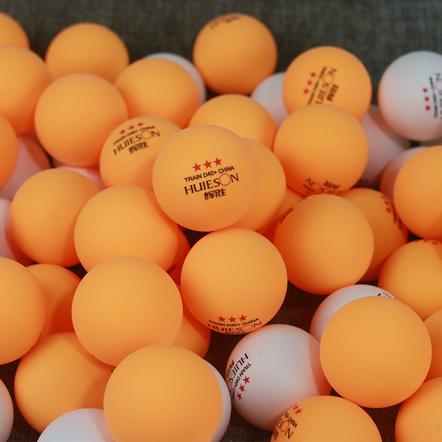 100pcs/lot 3 Star New Material white orange Table Tennis Balls 40+ ABS Plastic Ping Pong Balls