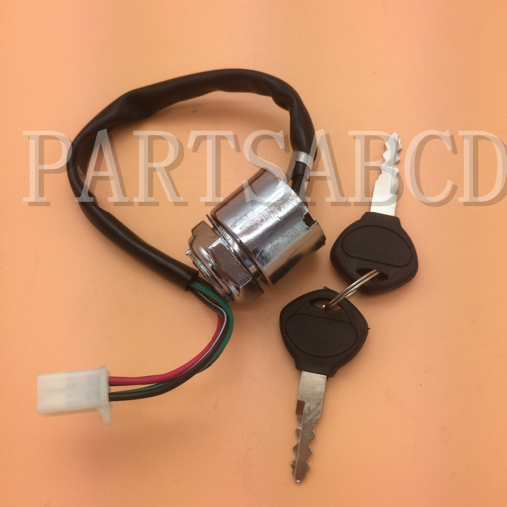 4 Wires Ignition Key Switch 50cc 110cc 125cc 150cc 250cc Atv Quad Wiring Scooter Go Kart Buggy Parts Free Shipping In Accessories From Automobiles