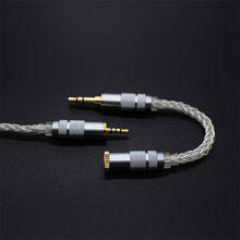 Hand-made Balanced 2.5mm/4.4mm To 3.5mm Adpter 8 Core Silver Audio Cord 2.5 Female to 4.4 Male Cable for HIfi MP3 Music Player(China)
