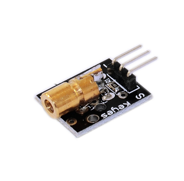 5pcs/lot KY-008 650nm Laser sensor Module 6mm 5V 5mW Red Laser Dot Diode Copper Head for Arduino 1mw 650nm red laser diode module dot size 4x13 7mm