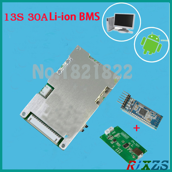 US $45 0 |13S 30A active bms 2017 new Li ion smart bms pcm with android  Bluetooth app UART correspondence bms wi software (APP) monitor-in  Integrated