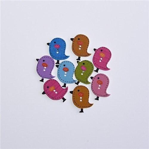 50 шт смешанные животные 2 отверстия деревянные пуговицы для скрапбукинга поделки DIY Детские аксессуары для шитья одежды пуговицы украшения - Цвет: colorful chicken