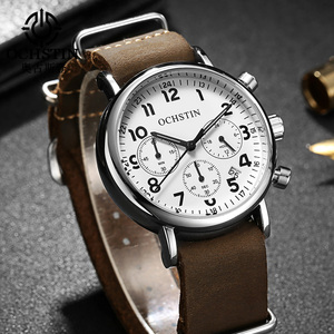 Image 2 - OCHSTIN Chronograph Mens Watch Men Watches Male Casual Top Brand Luxury Quartz Wristwatch Clock Military Clocks Stopwatch 081A