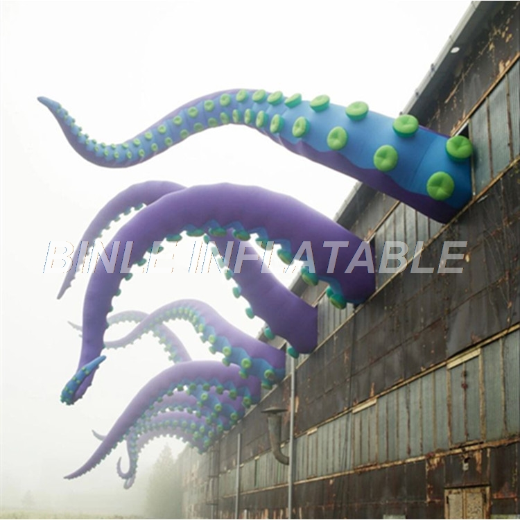 Festival outdoor shopping mall building decoration large inflatable octopus tentacles giant octopus feet for eventFestival outdoor shopping mall building decoration large inflatable octopus tentacles giant octopus feet for event