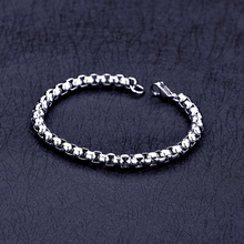 Chain Bracelet Silver-Color Bangles Jewelry Stainless-Steel Wholesale Men's Fashion