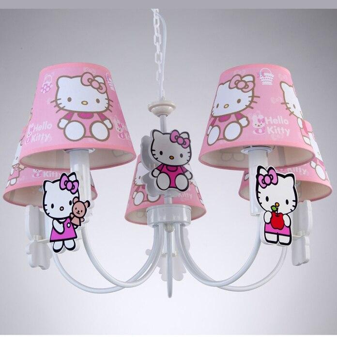 New Children Bedroom Girl Princess Hellokitty Pendant Lamp Pink - Hello kitty lamps for bedroom