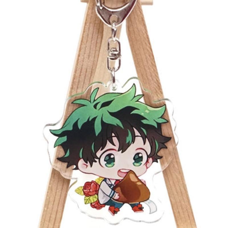 Anime My Hero Academia Acrylic Keychain Midoriya Izuku Bakugou Katsuki All Might