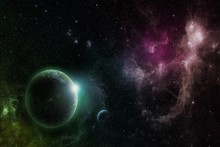 outer space stars planets science fiction sci fi cloth silk art wall poster and prints