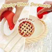 Cortador de repostería para Pizza decorador de ruedas para hornear pastel de plástico ruedas de corte de rodillos herramientas de decoración para cocina Pizza
