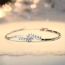 Everoyal Exquisite Zirocn Flower Girls Bracelets Jewelry Fashion Female 925 Sterling Silver For Women Accessories Lady