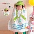 Bebê dos desenhos animados roupão crianças toalha de praia com capuz Animal Kid veste de banho do bebê manto manto