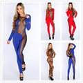 RP70129 Club hollow-out sexy rompers for women hot sale high quality harem jumpsuit leopard pattern sexy jumpsuit 2015