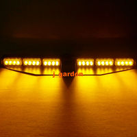 2x12 LED 3 W Del Carro Del Coche de Emergencia Beacon Luz Exclusiva Cubierta Dividir Visor Dash Hazard Estroboscópico Advertencia Ámbar barra de luces