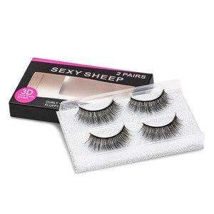 Image 5 - SEXYSHEEP 2 pairs natural false eyelashes fake lashes makeup kit 3D Mink Lashes eyelash extension mink eyelashes maquiagem