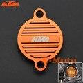 KTM CNC Billet Oil Filter Cover Cap For KTM 250 350 450 400 500 530 SX SXF EXC EXF SMR Orange