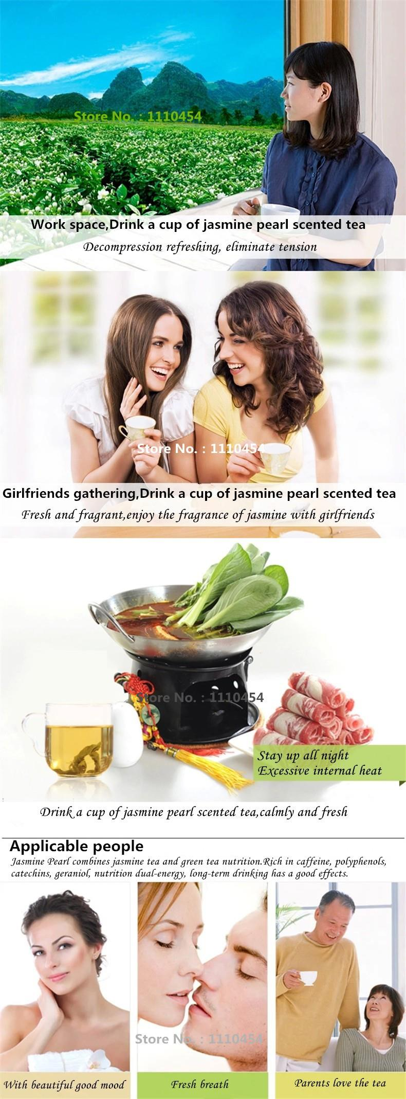 spring Organic Jasmine tea 250g Freshest Organic Food Green Tea flower teas Health Care Weight Loss Free Shipping