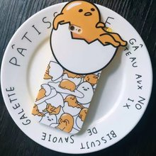 Perfect Funny Cartoon Figures Gudetama 3D Phone Case For iPhone 6 6S 6 Plus 6S Plus Cover with Strap